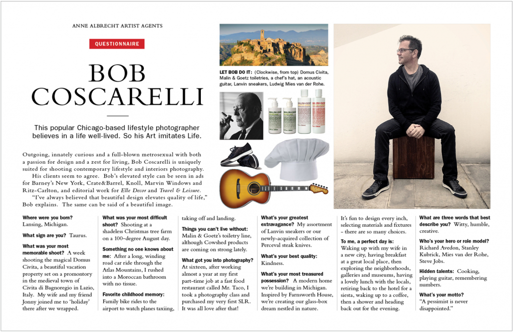 Promotional PDf for Bob Coscarelli Photography
