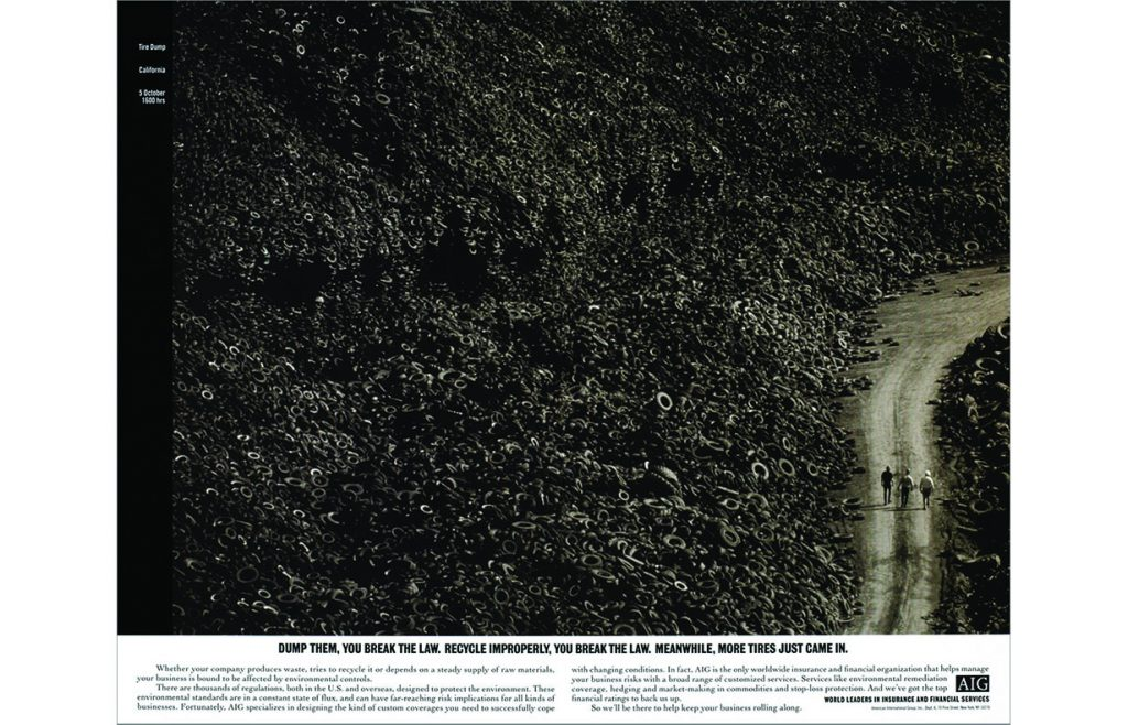 AIG Insurance newspaper spread