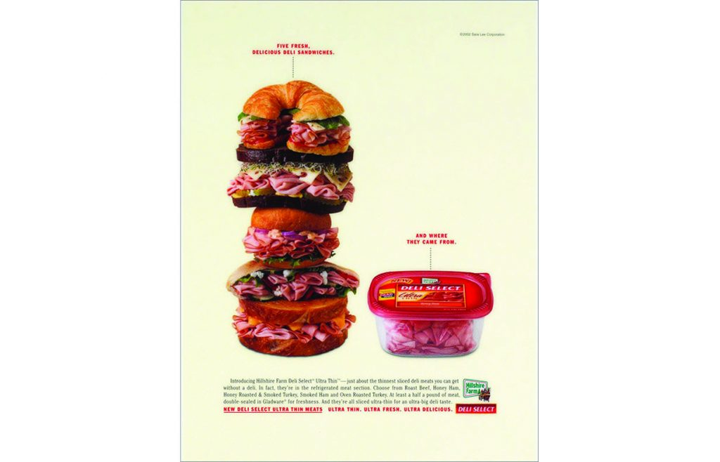 Hillshire Farm Deli-Select meats ad