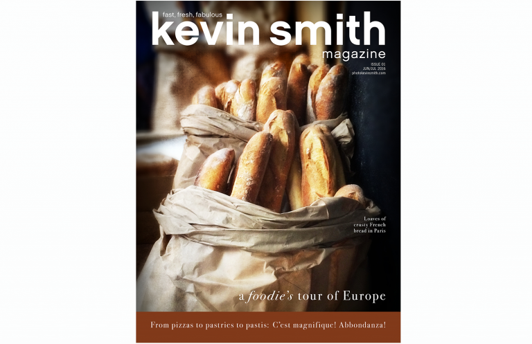 Promotional magazine cover for Kevin Smith Photography