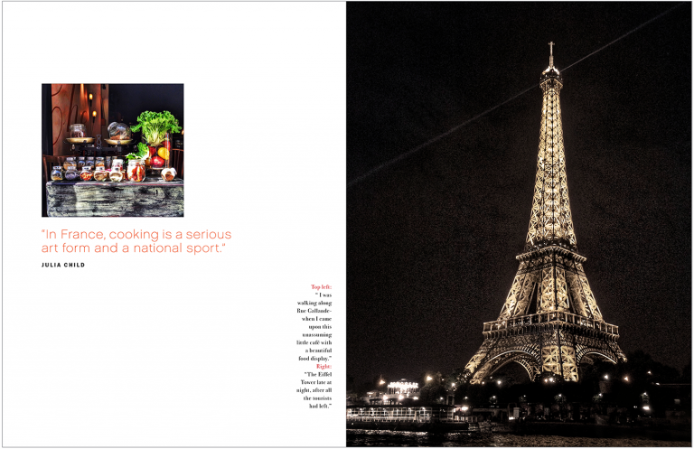 Magazine spread of Paris for Kevin Smith Photography