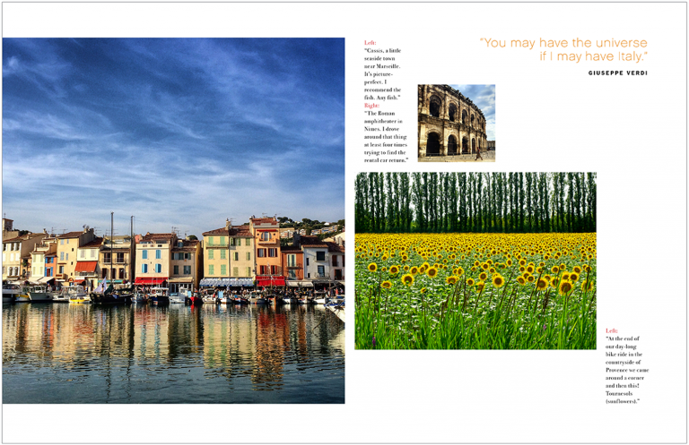 Magazine spread of Italy for Kevin Smith Photography