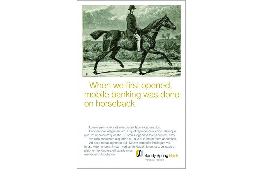 Sandy Spring Bank campaign (2 of 3)